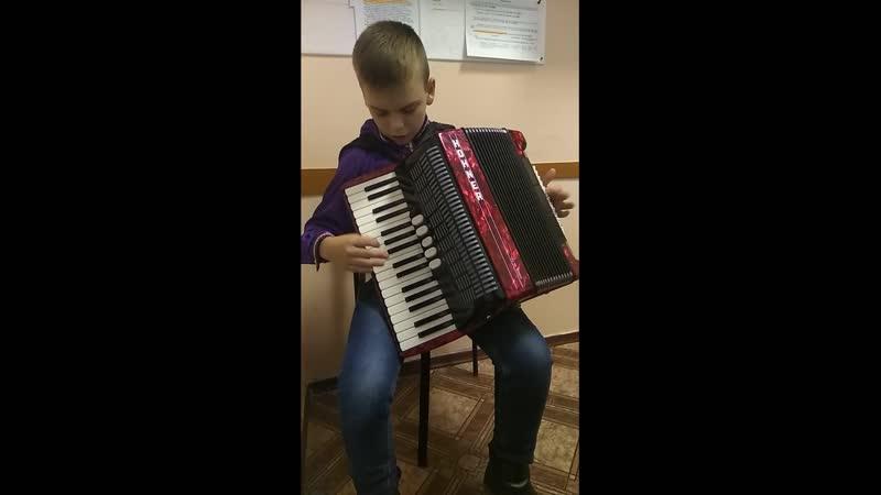 Хадускин Даниил аккордеон Младшая группа Б