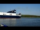 2018 08 02 паром DFDS Optima Seaways в акватории порта округ Клайпеды Смильтине