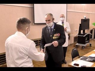 Вручение медалей «За жертвенное служение» врачам-анестезиологам-реаниматологам.