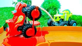 Crusher fura os pneus do Blaze para vencer a corrida! Blaze e as Monster Machines em português