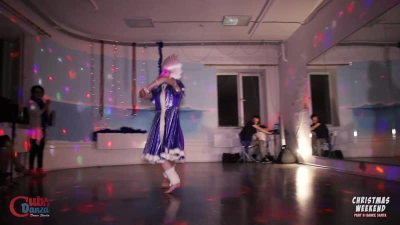 Ксения Шмидт Восточный танец СНЕГУРОЧКА CubaDanza Christmas Weekend