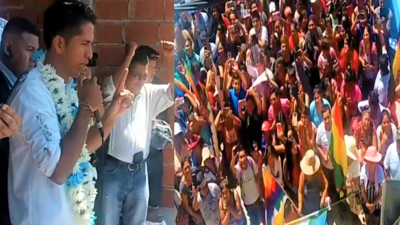En Argentina Andrónico Rodríguez visita el barrio 6 de agosto de Lomas de Zamora