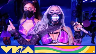 "Lady Gaga Performs a Medley of ""Chromatica II"", ""Rain On Me (ft. Ariana Grande), & More"