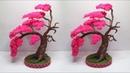 Tutorial Bonsay Sakura dari Kantong Plastik Kresek dan Tali Kur   Bonsai Handmade