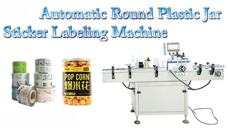 Automatic Round Plastic Jar Self-Adhesive None-dry Sticker Labeling Machine